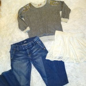 Rock & republic jeans and sweater outfit